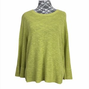 NWT Eileen Fisher Green Ribbed Knit Sweater PL